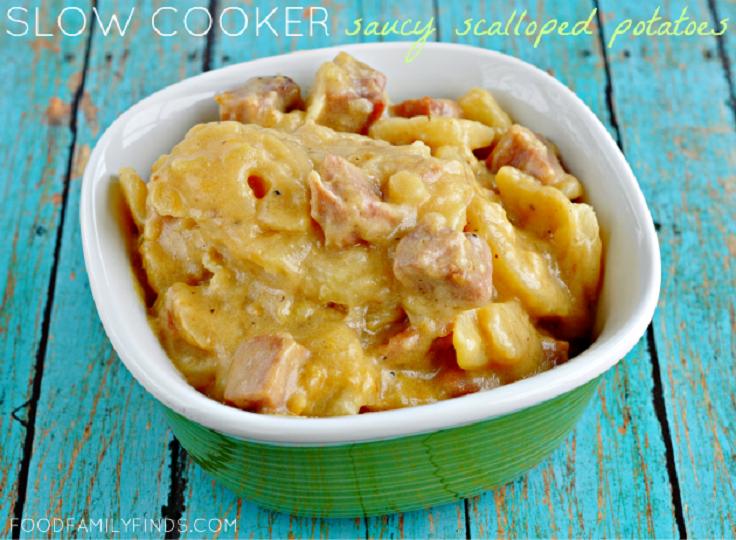 Crock-Pot-Saucy-Scalloped-Potatoes-with-Ham-Cubes