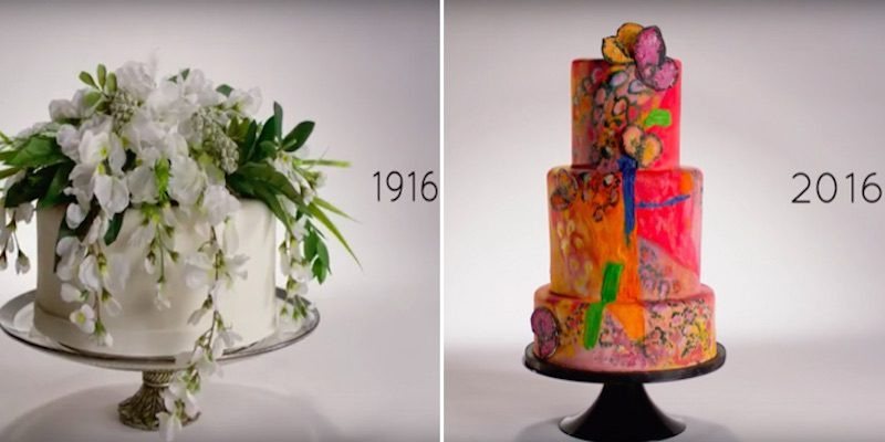 100 Years Of Wedding Cakes  WATCH 100 Years of Wedding Cakes in Minutes