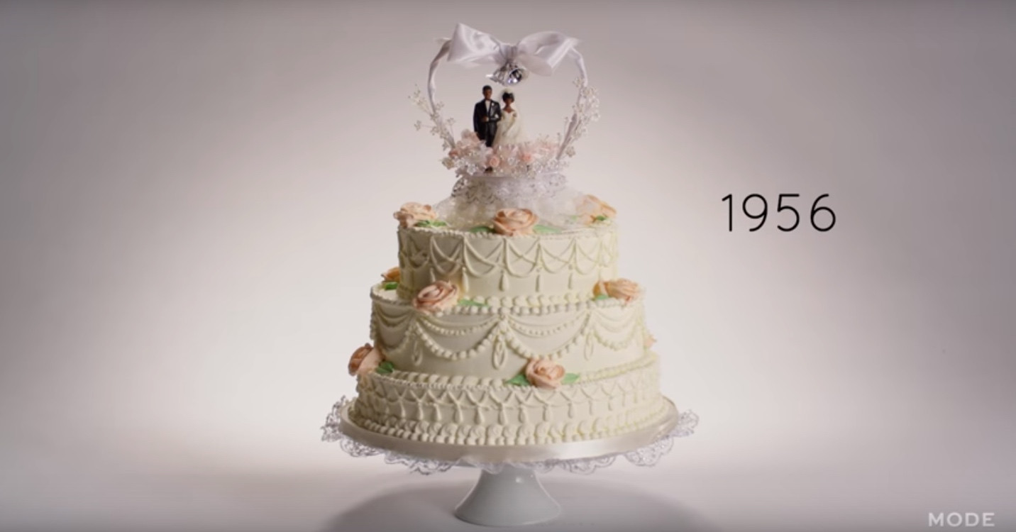 100 Years Of Wedding Cakes  Watch A 100 years of wedding cakes in 3 minutes
