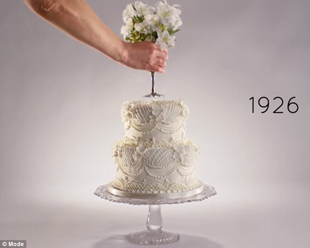 100 Years Of Wedding Cakes  Video shows how wedding cakes styles and topper trends