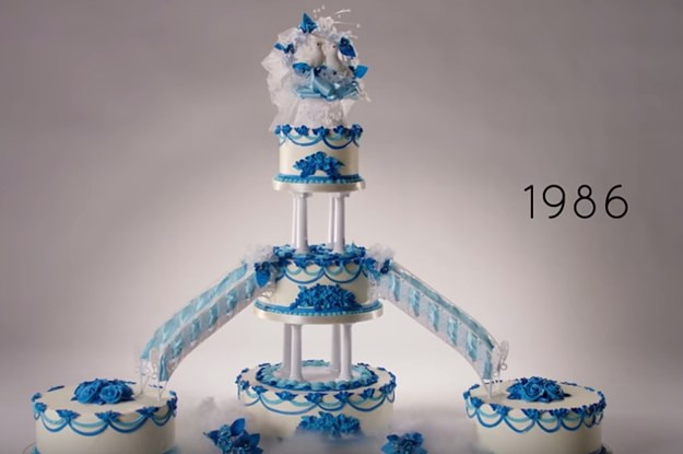 100 Years Of Wedding Cakes  Watch 100 Years Wedding Cake Trends In Less Than Three