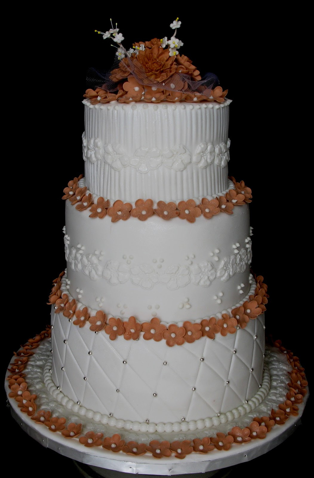 2 Layers Wedding Cakes  3 layered wedding cake idea in 2017