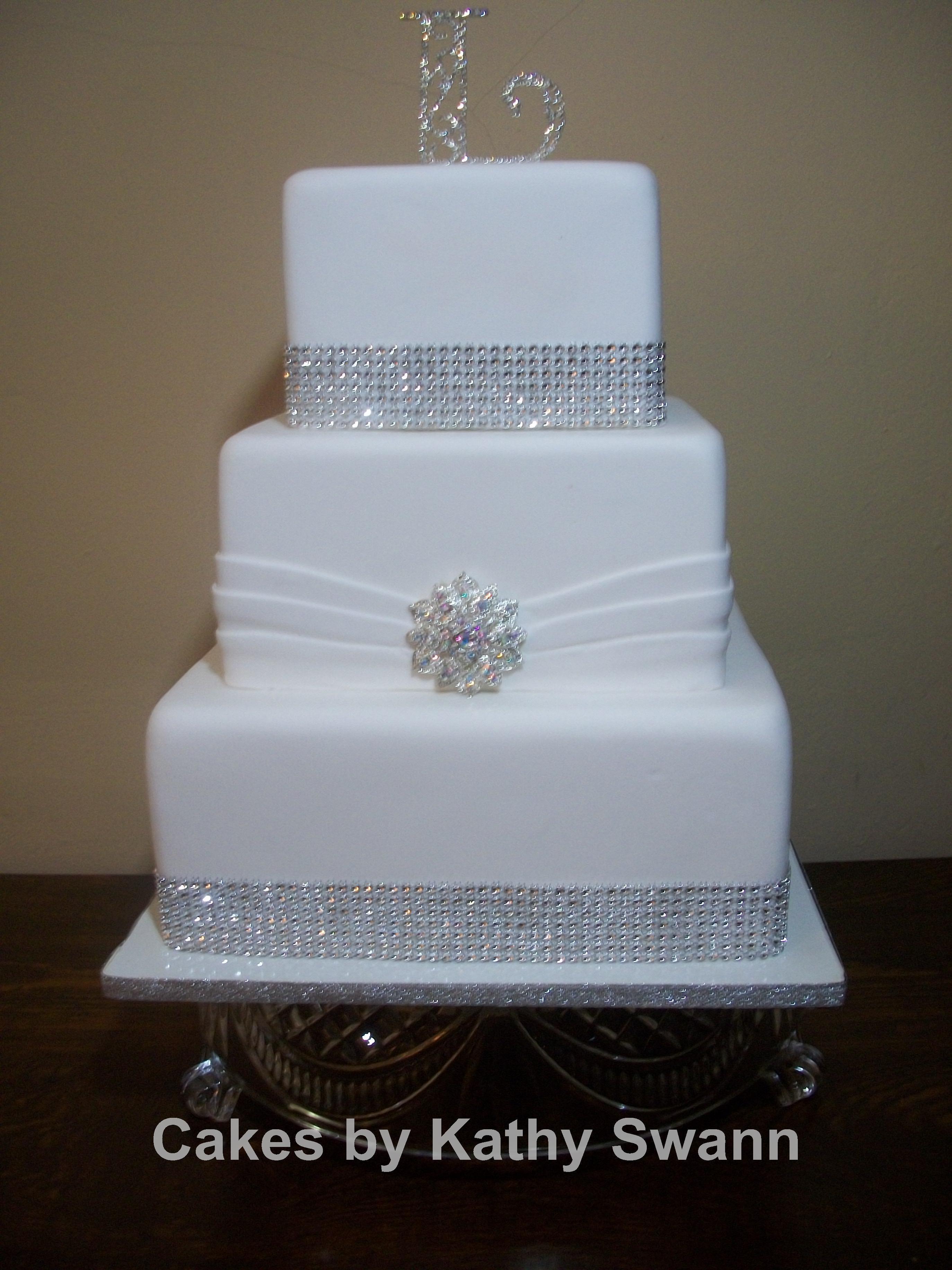 2 Tier Square Wedding Cakes  2 Tier Square Wedding Cakes