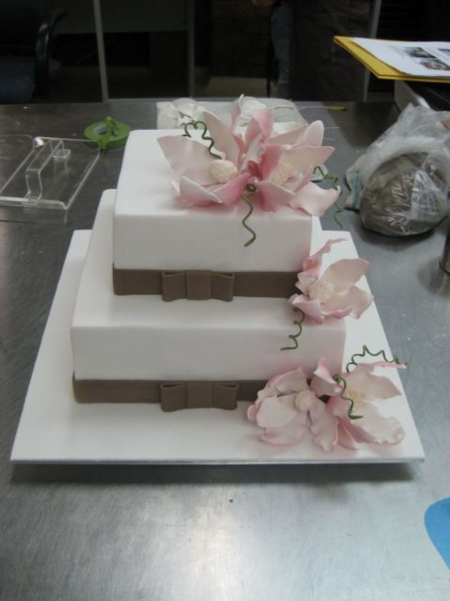 2 Tier Square Wedding Cakes  2 Tier Square Wedding Cake CakeCentral