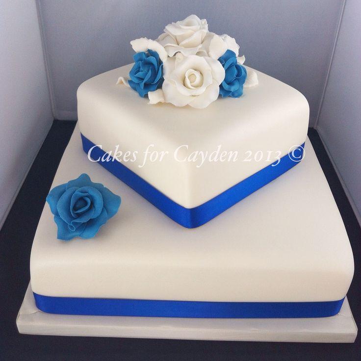 2 Tier Square Wedding Cakes  Square 2 tier wedding cakes idea in 2017