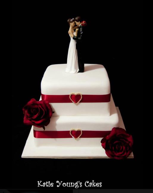 2 Tier Square Wedding Cakes  2 tier square wedding cakes idea in 2017