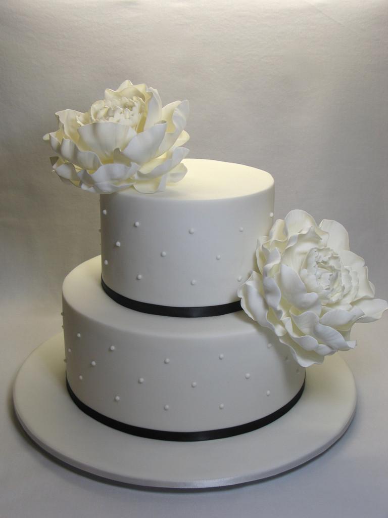2 Tier Wedding Cakes  2 Tier Peony wedding cake a photo on Flickriver