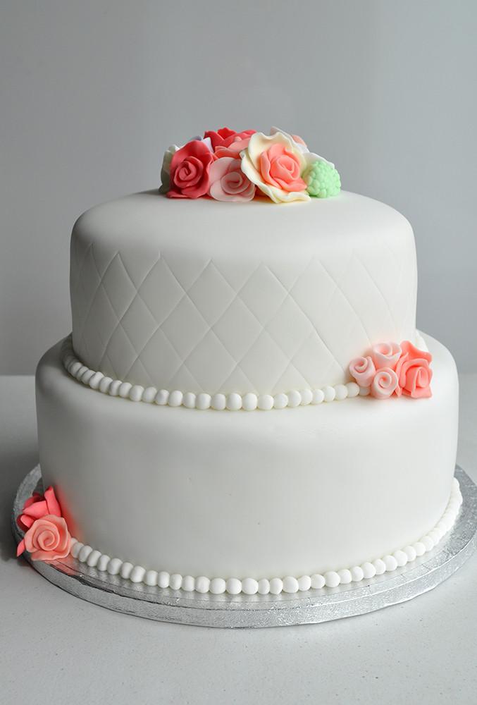 2 Tier Wedding Cakes  Weddings Kildare Treats