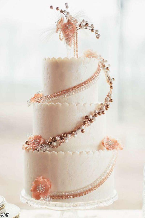 2016 Wedding Cakes  Blush And Gold Wedding Cake 2015 2016