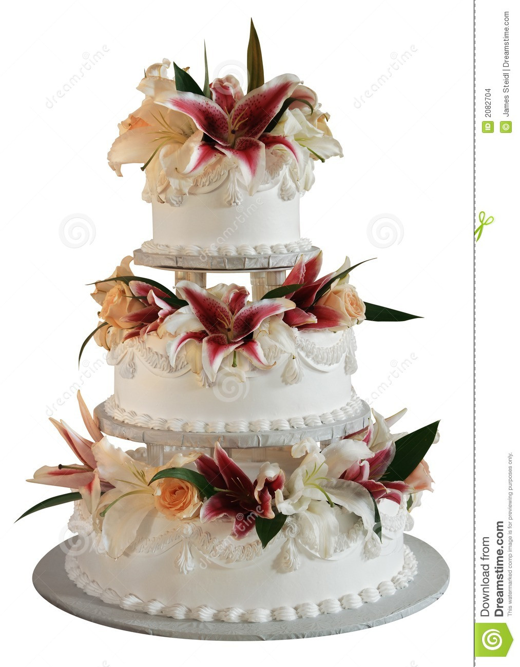 3 Layer Wedding Cakes  3 layer wedding cake stock photo Image of roses bride