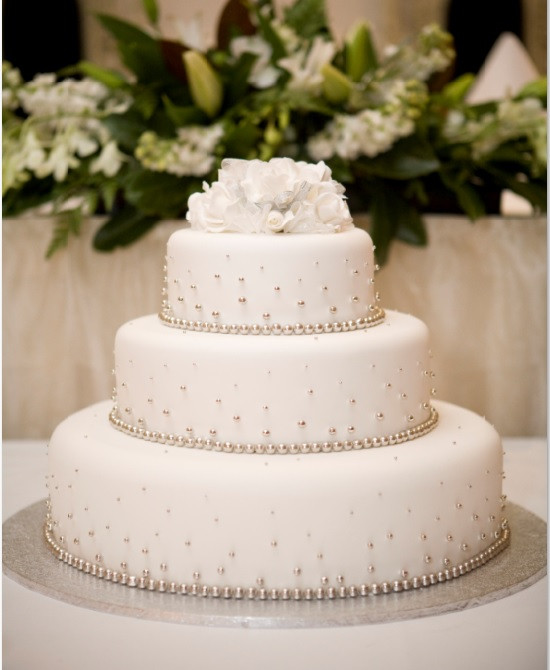 3 Layer Wedding Cakes  3 tier wedding cake with cachous Sargent s Cakes