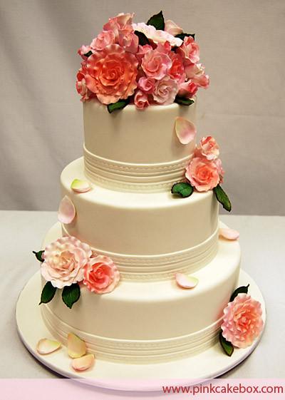 3 Layered Wedding Cakes  Casamento fazer e manter Quadrado ou redondo