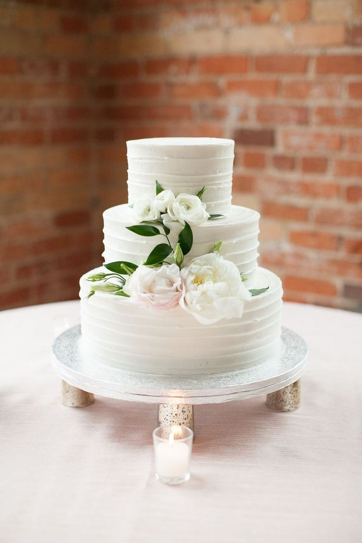 3 Layered Wedding Cakes  3 Tier Wedding Cake with Best Day Ever Silver Cake Topper