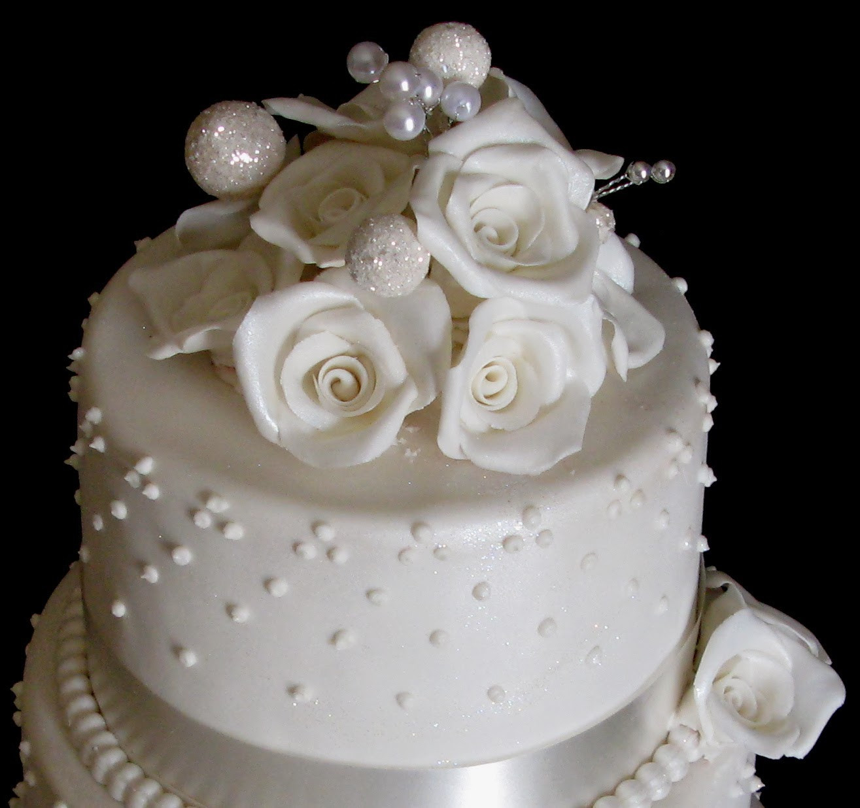 3 Layered Wedding Cakes  Sugarcraft by Soni Three Layer Wedding Cake White Roses