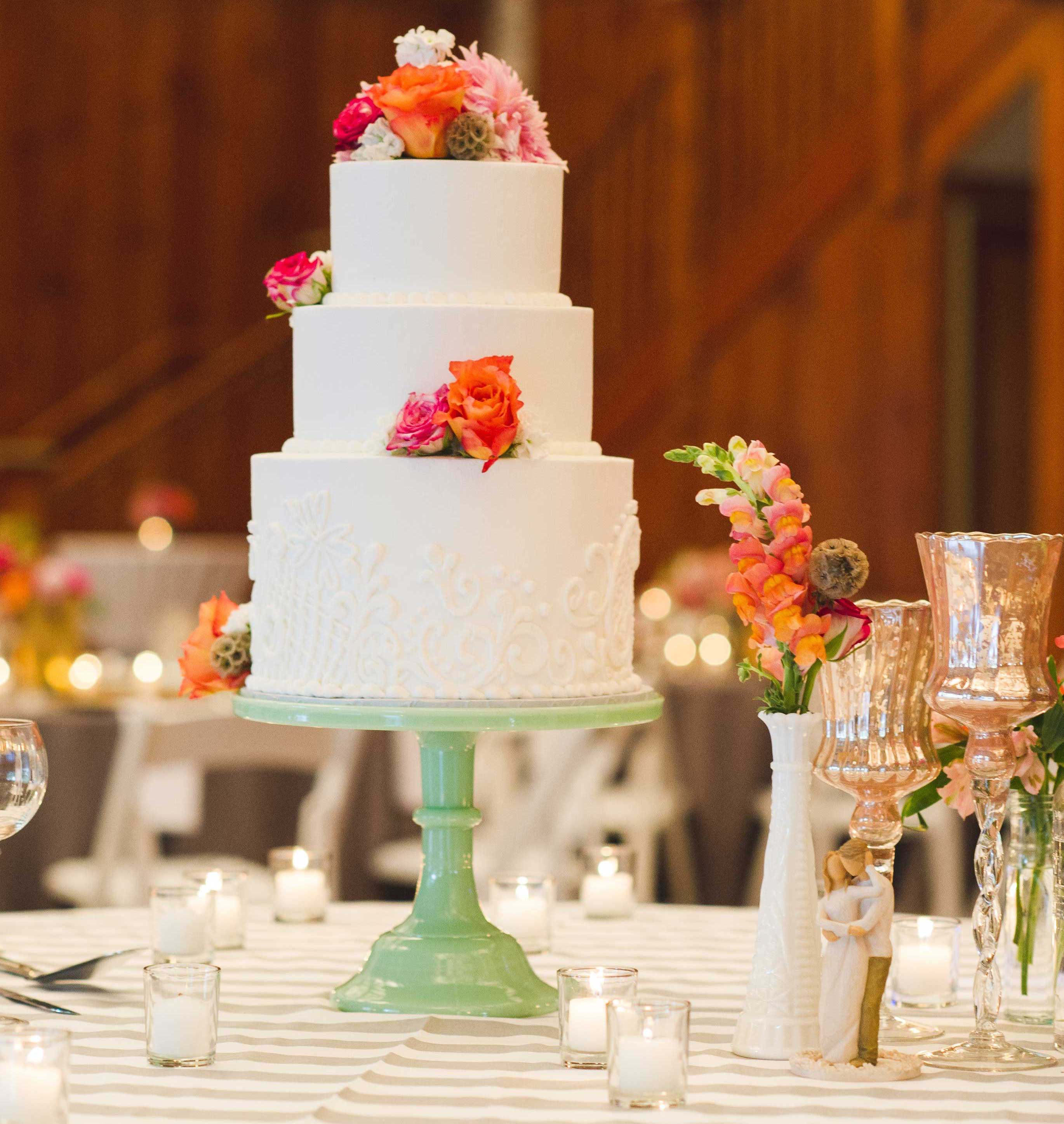 3 Layered Wedding Cakes  Wedding Cake Ideas Small e Two and Three Tier Cakes