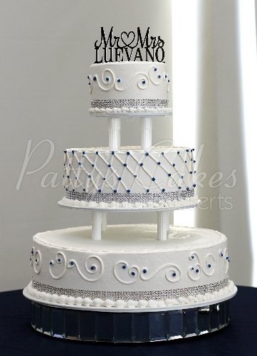 3 Tier Wedding Cakes Designs  Blue dots wedding cake Archives Patty s Cakes and Desserts