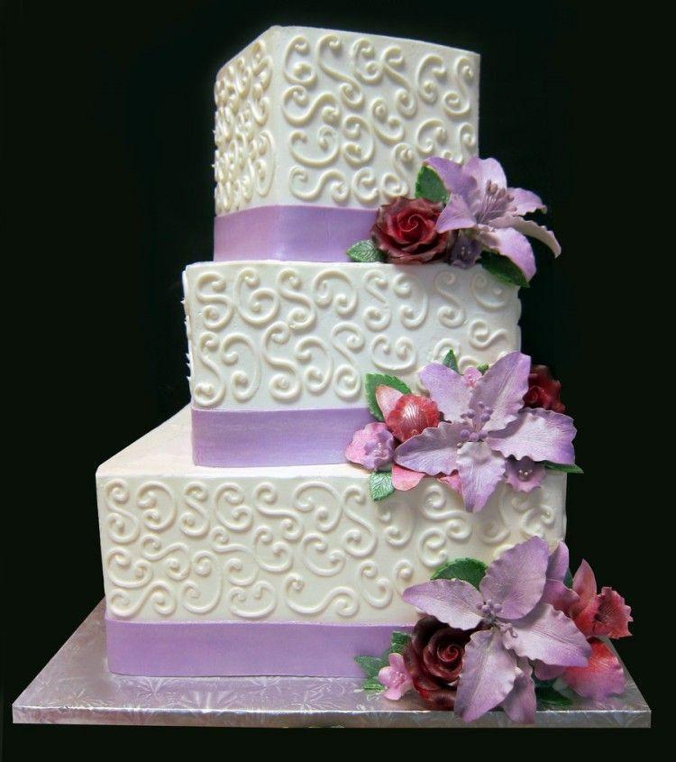 3 Tiered Square Wedding Cakes  3 tier square wedding cake