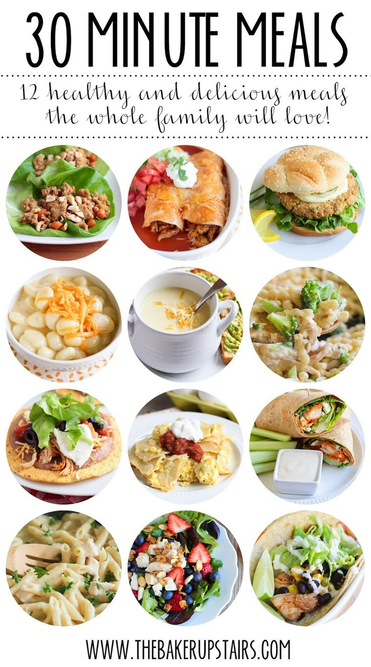 30 Minute Meals Healthy  Best 25 Healthy 30 minute meals ideas on Pinterest