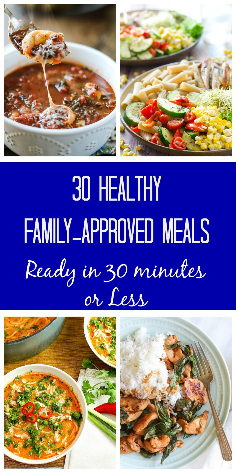 30 Minute Meals Healthy  30 Meals Made in 30 Minutes A Month of 30 Minute Meals