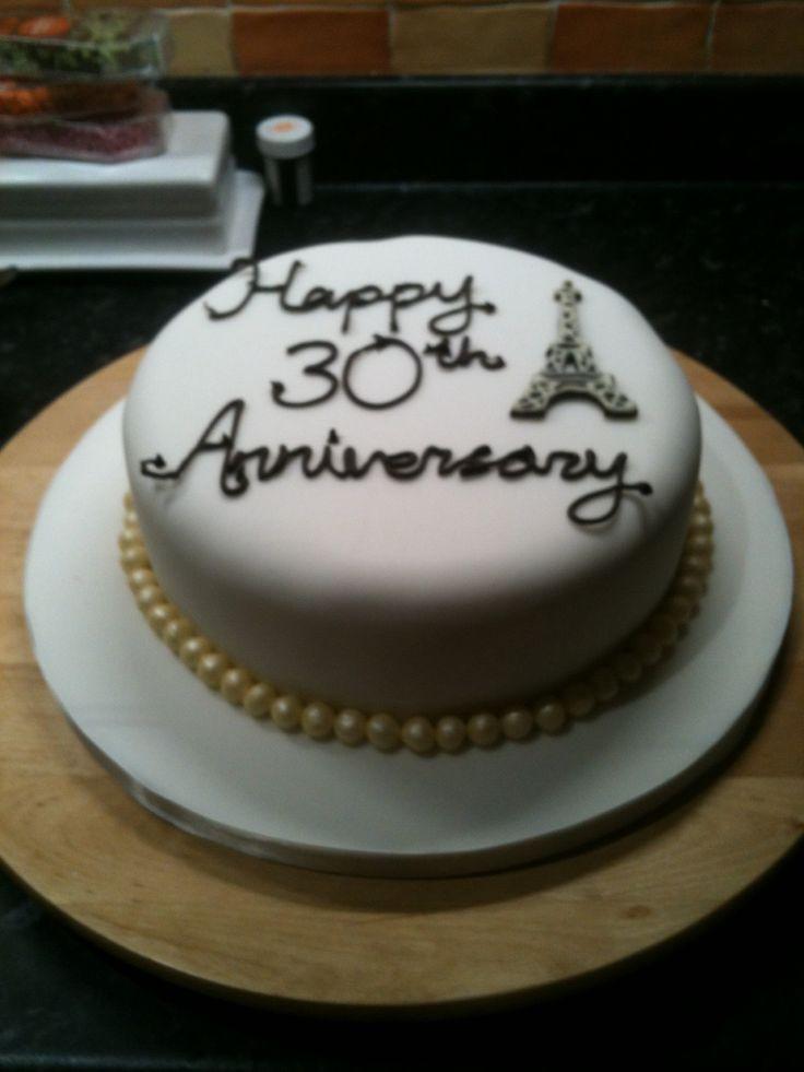 30Th Wedding Anniversary Cakes  30th wedding anniversary cakes idea in 2017