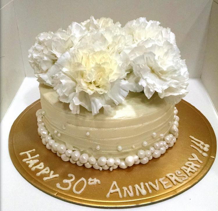30Th Wedding Anniversary Cakes  30th Anniversary cake