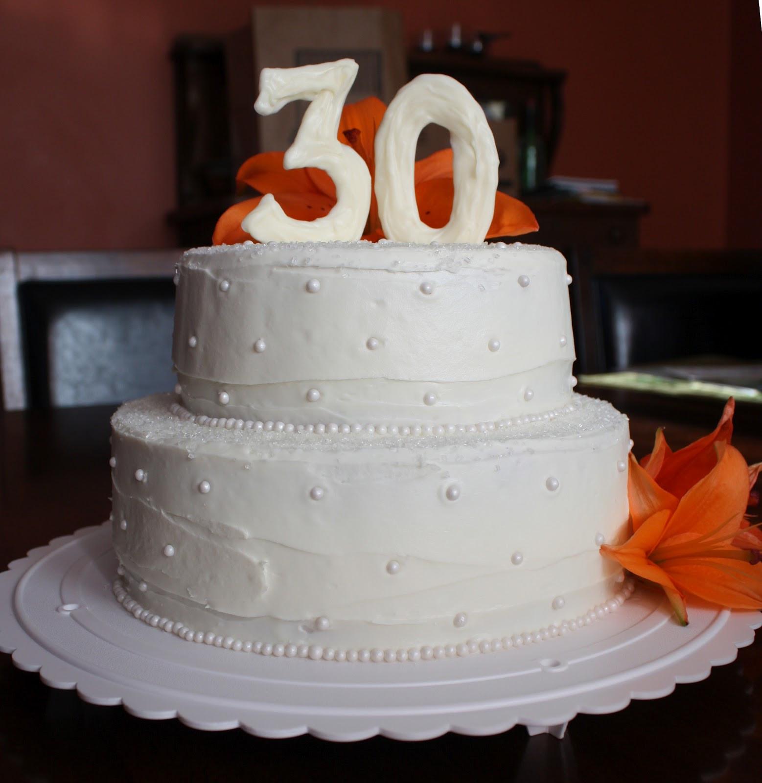 30Th Wedding Anniversary Cakes  Straight to Cake 30th Anniversary Cake