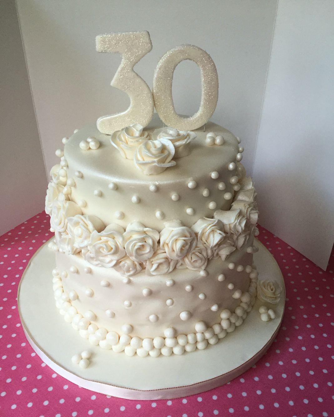 30Th Wedding Anniversary Cakes  30th wedding anniversary cake pearl anniversary so