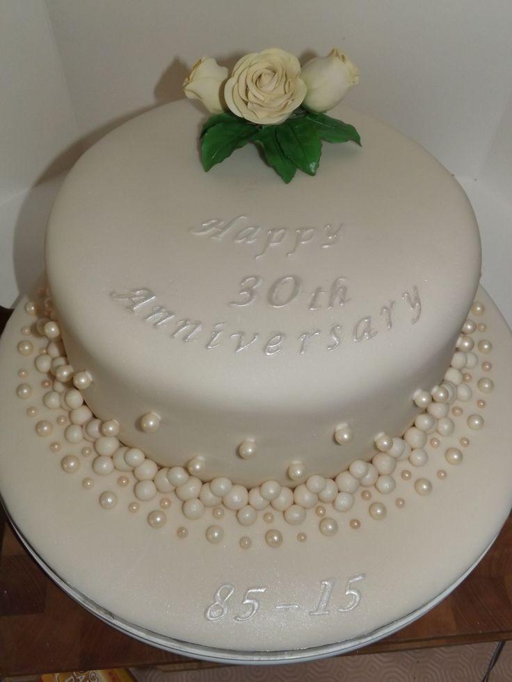 30Th Wedding Anniversary Cakes  Best 25 30th anniversary ideas on Pinterest