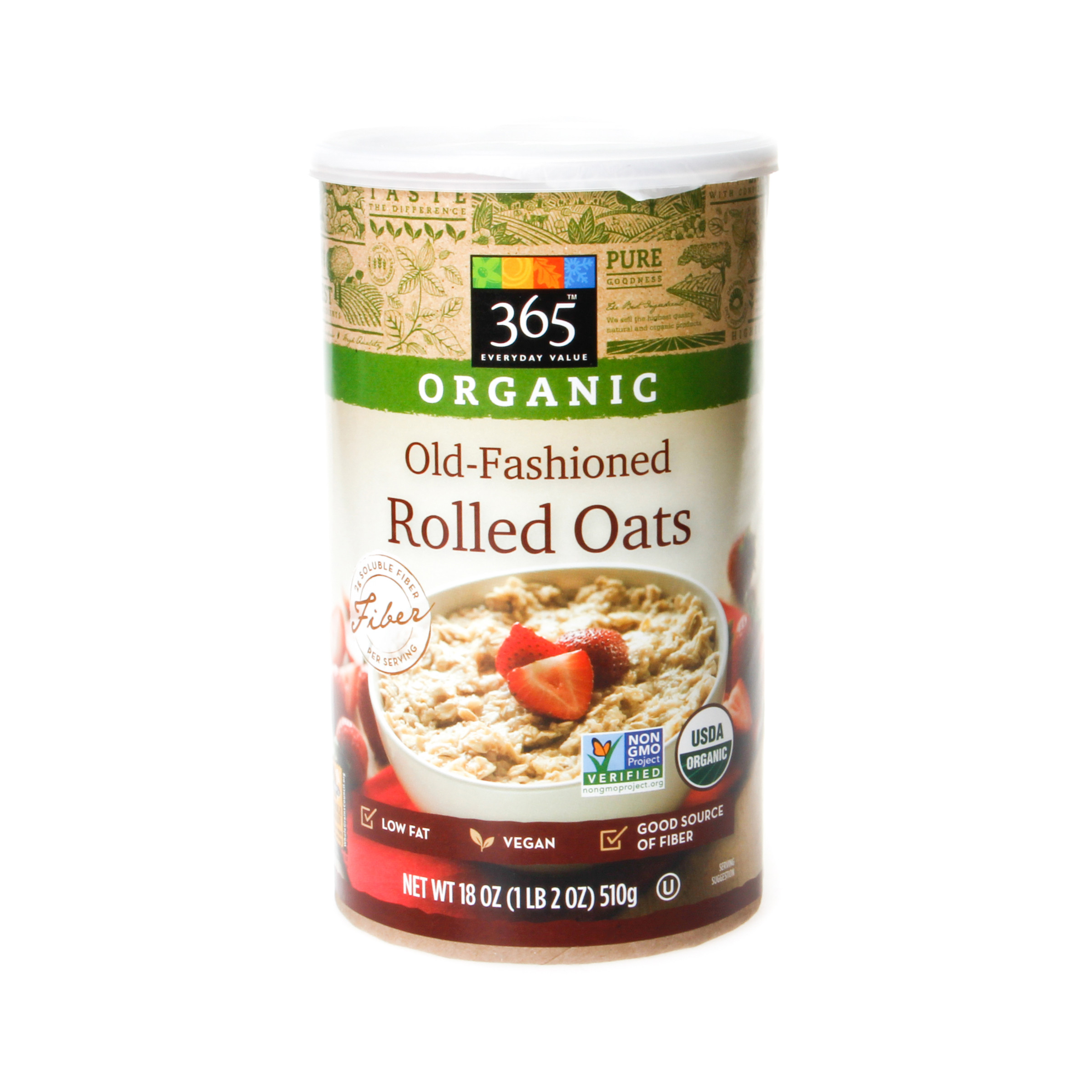 365 Organic Old Fashioned Rolled Oats  365 Everyday Value Organic Old Fashioned Rolled Oats