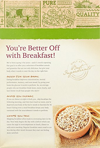 365 Organic Old Fashioned Rolled Oats  365 Everyday Value Organic Fruit & Nut Granola 17 Ounce