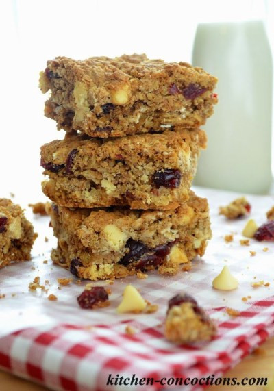 365 Organic Old Fashioned Rolled Oats  White Chocolate Cranberry Oat Bars Kitchen Concoctions