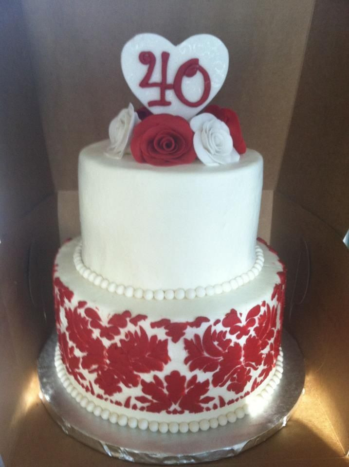 40Th Wedding Anniversary Cakes  40th anniversary cake Sweet Cakes by Toni