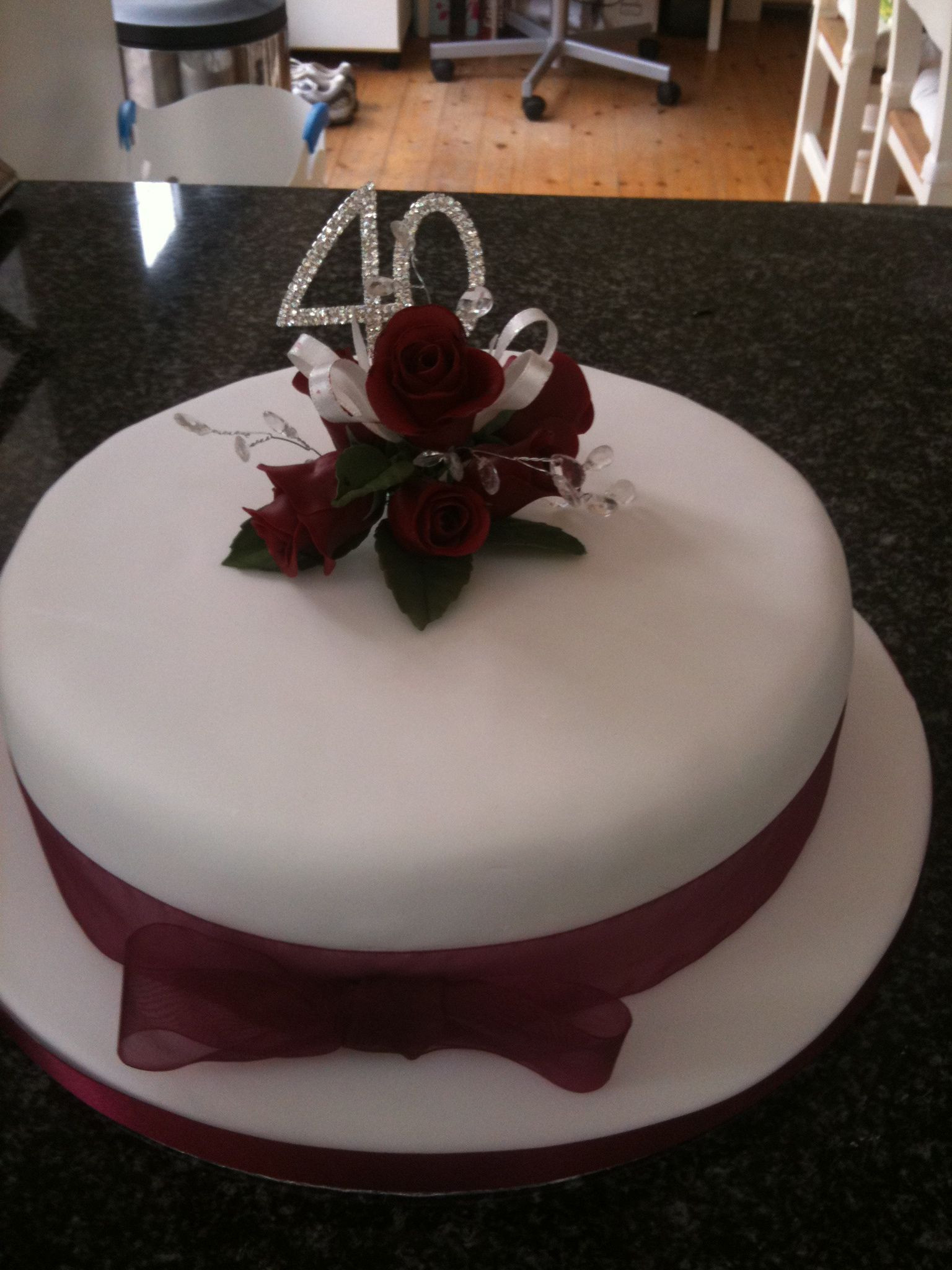 40Th Wedding Anniversary Cakes  40th Wedding Anniversary Cake