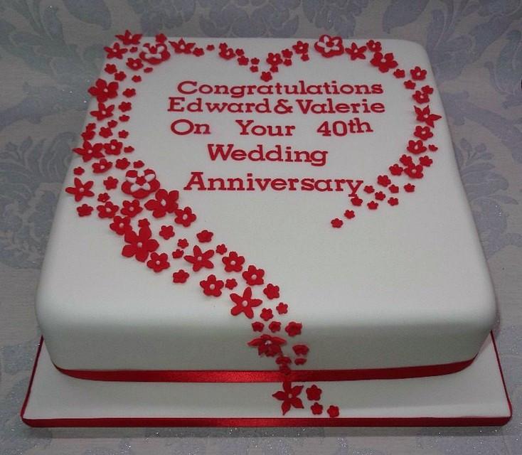 40Th Wedding Anniversary Cakes  Amazing 40th Wedding Anniversary Cakes Inspirations