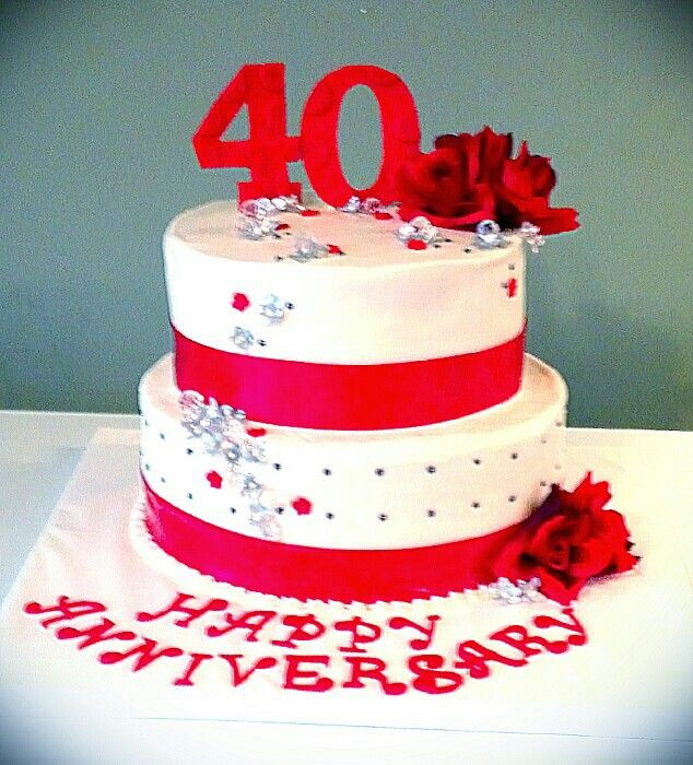 40Th Wedding Anniversary Cakes  25 best ideas about 40th Anniversary Cakes on Pinterest