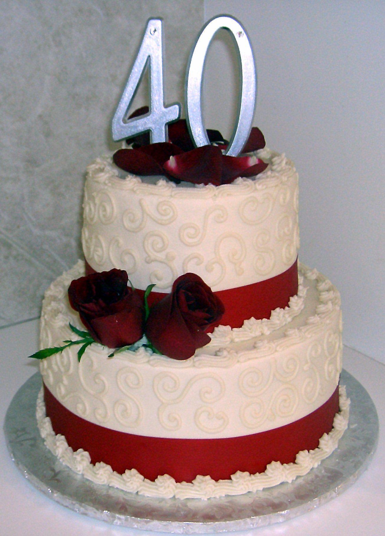 40Th Wedding Anniversary Cakes  40th Wedding Anniversary Cakes