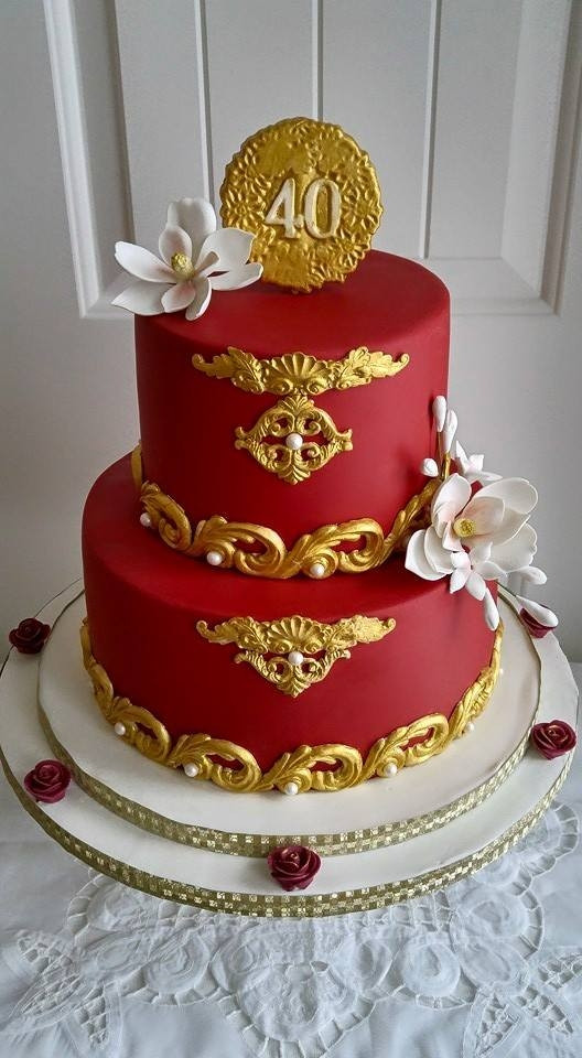 40Th Wedding Anniversary Cakes  Ruby Red 40Th Anniversary Cake CakeCentral