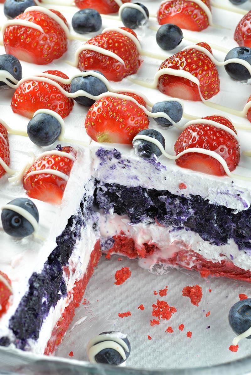 4Th July Desserts  No Bake Summer Berry Lasagna OMG Chocolate Desserts