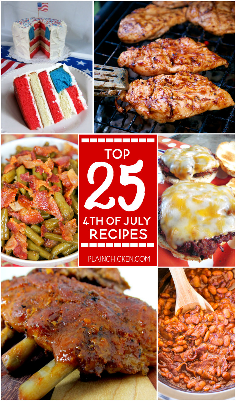 4th Of July Appetizers and Side Dishes the top 20 Ideas About top 25 4th Of July Recipes