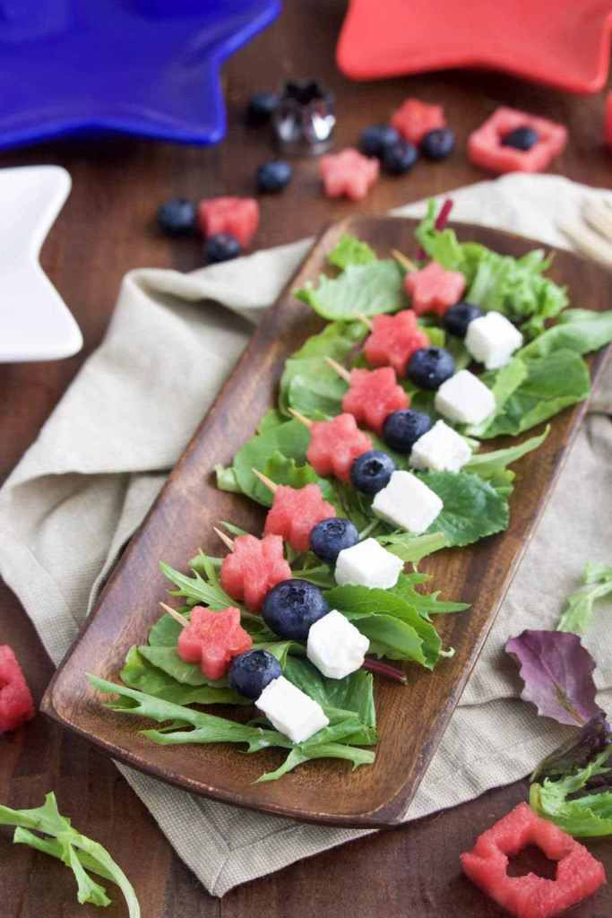 4Th Of July Appetizers And Side Dishes  5 Minute 4th of July Appetizer Star Spangled Skewers