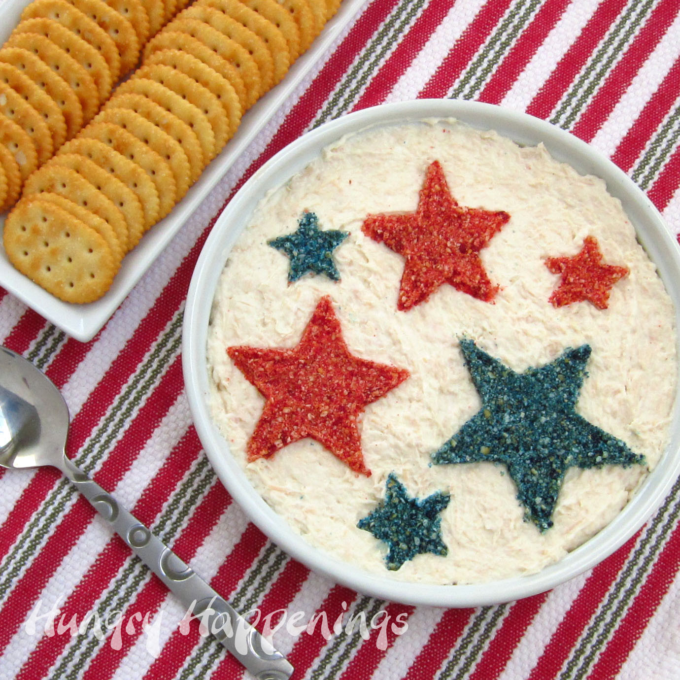 4Th Of July Appetizers Red White And Blue  Patriotic Appetizer Snack Dip for Fourth of July Party