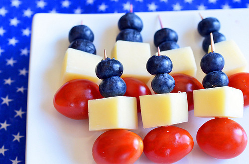 4Th Of July Appetizers Red White And Blue  Red White and Blue Skewers