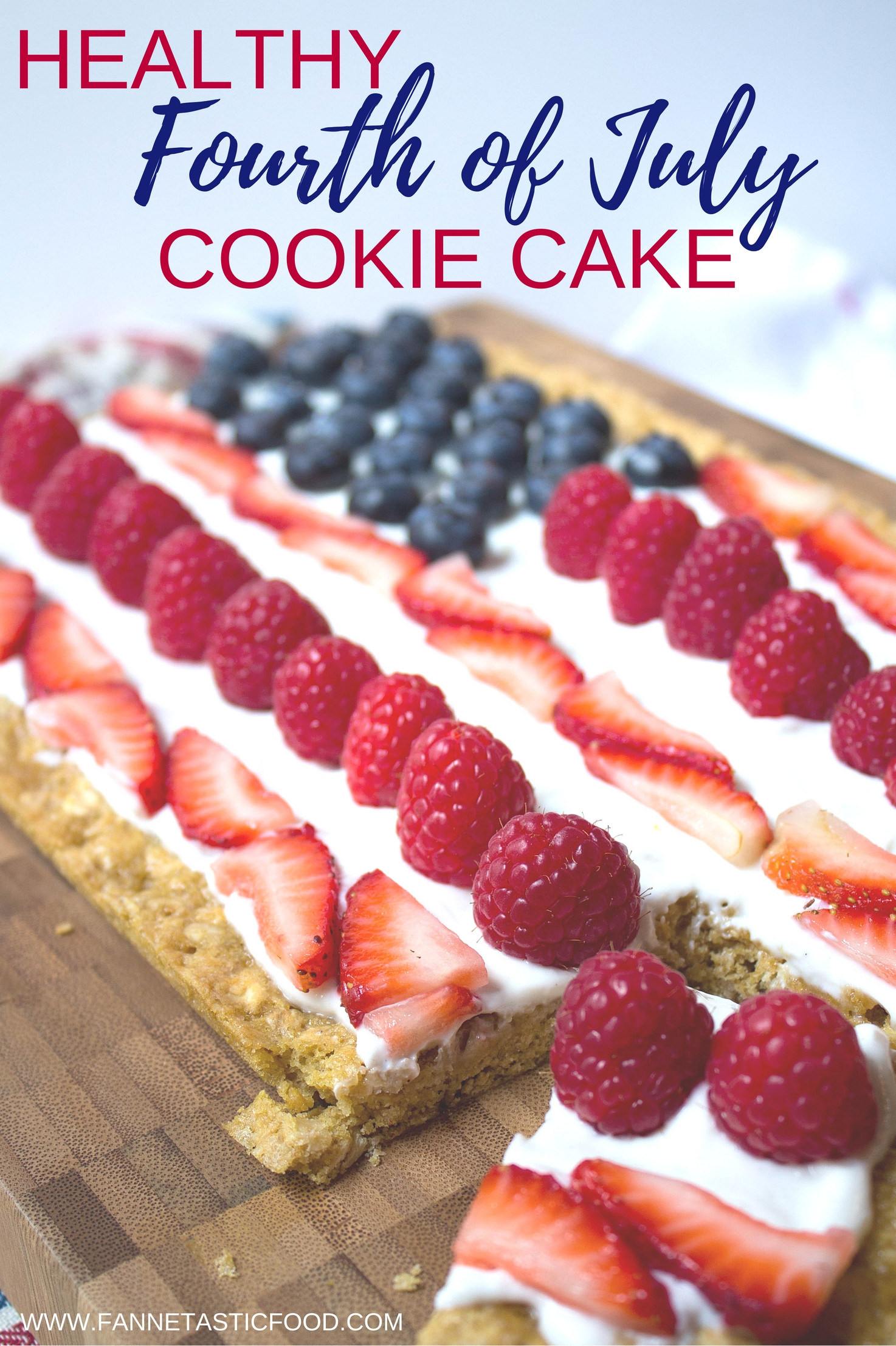 4Th Of July Cake Recipes  Healthy 4th of July Cookie Cake Recipe fANNEtastic food