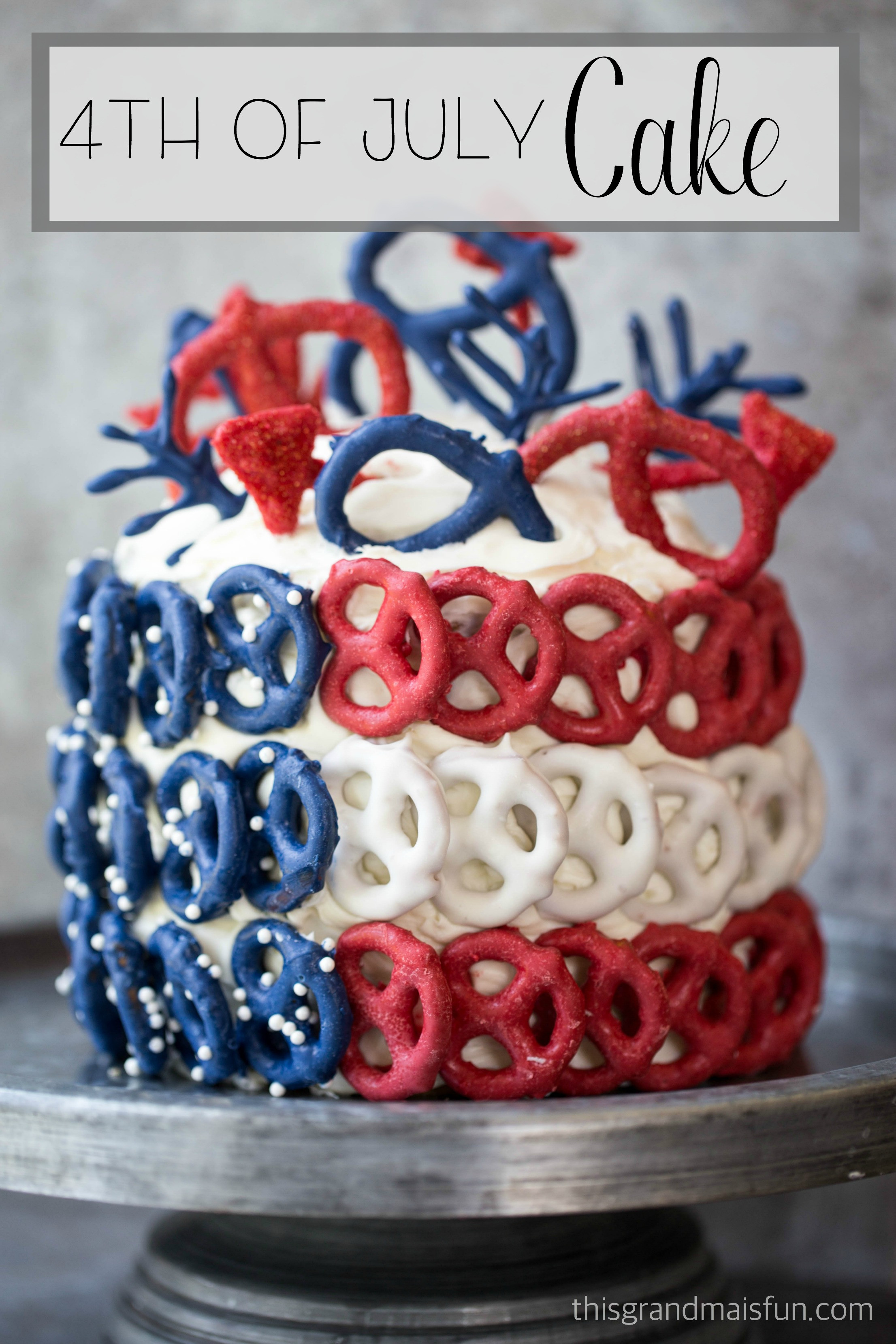 4Th Of July Cake Recipes  4th of July Cake TGIF This Grandma is Fun