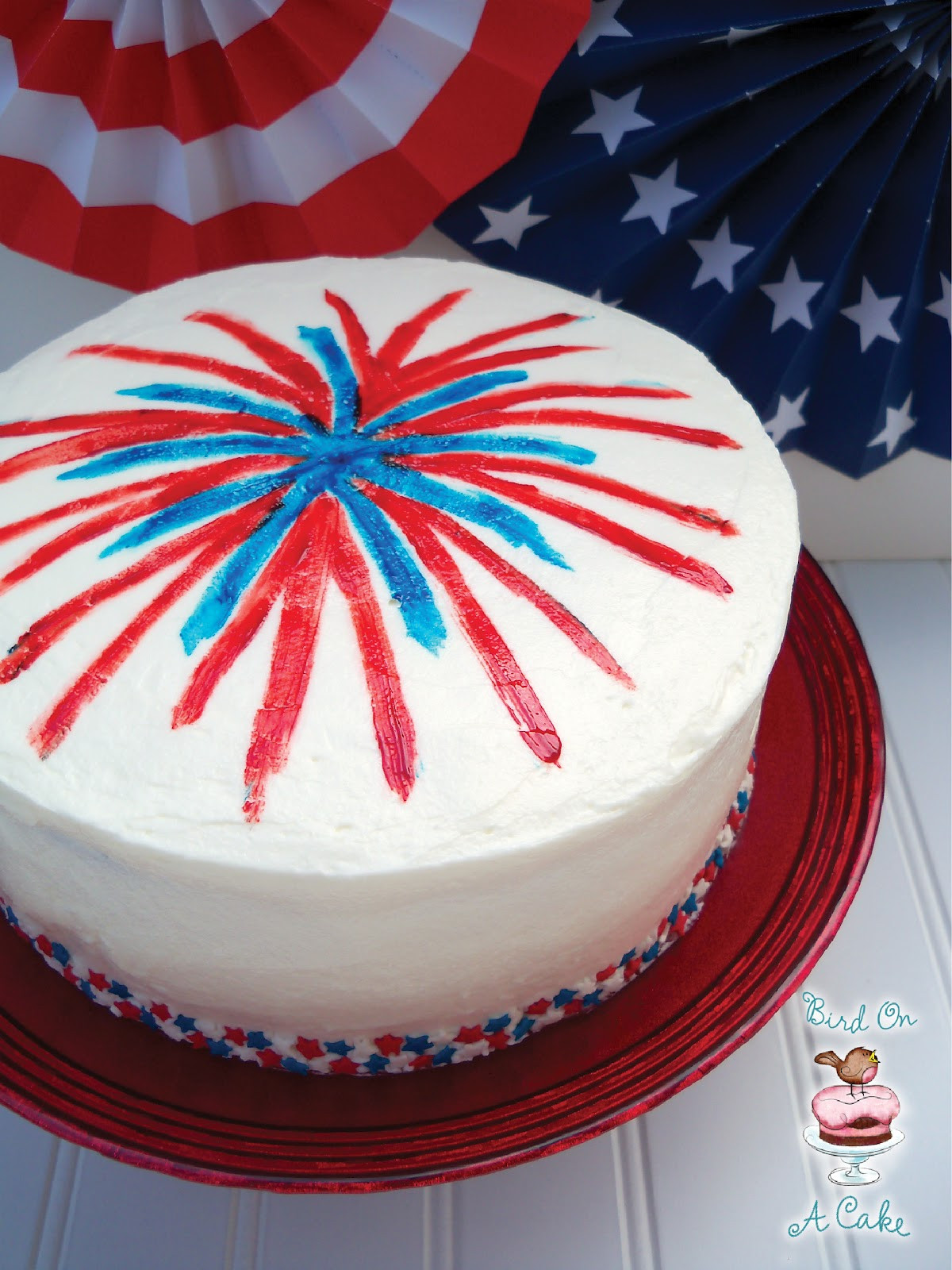 4Th Of July Cake Recipes  Bird A Cake 4th of July Fireworks Cake