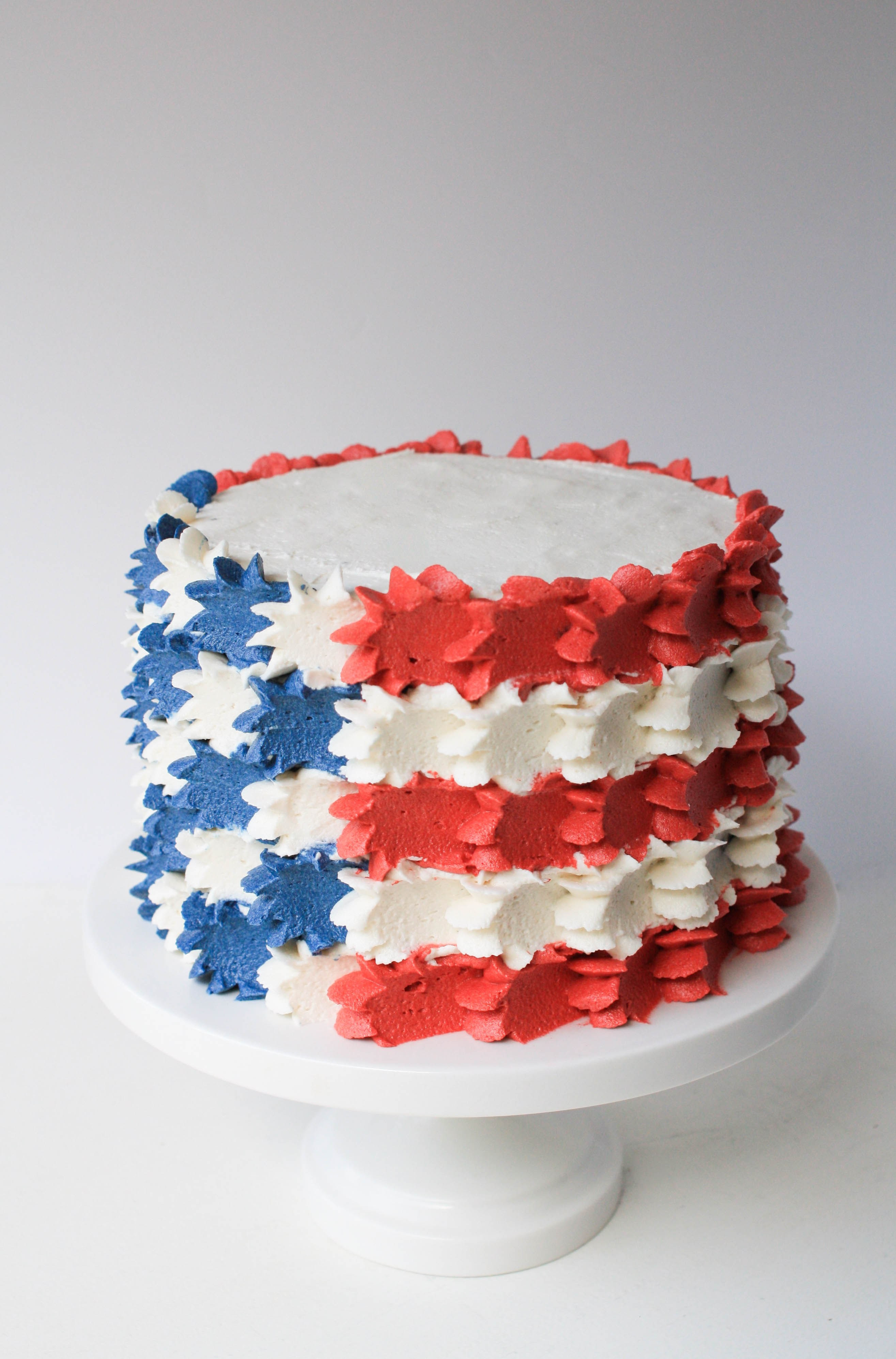 4Th Of July Cake Recipes  Buttercream Stars And Stripes Flag Cake