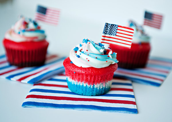 4Th Of July Cupcakes  4th of July Desserts