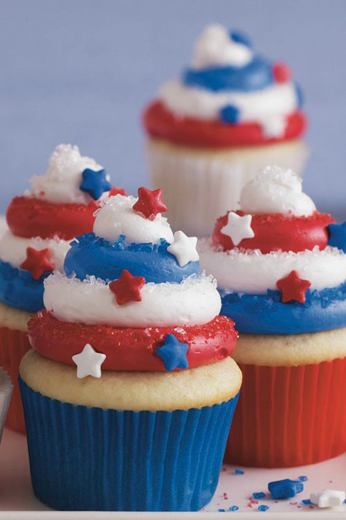 4Th Of July Cupcakes  50 Best 4th of July Desserts and Treat Ideas