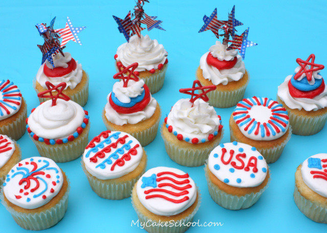 4Th Of July Cupcakes  Fourth of July Cupcakes