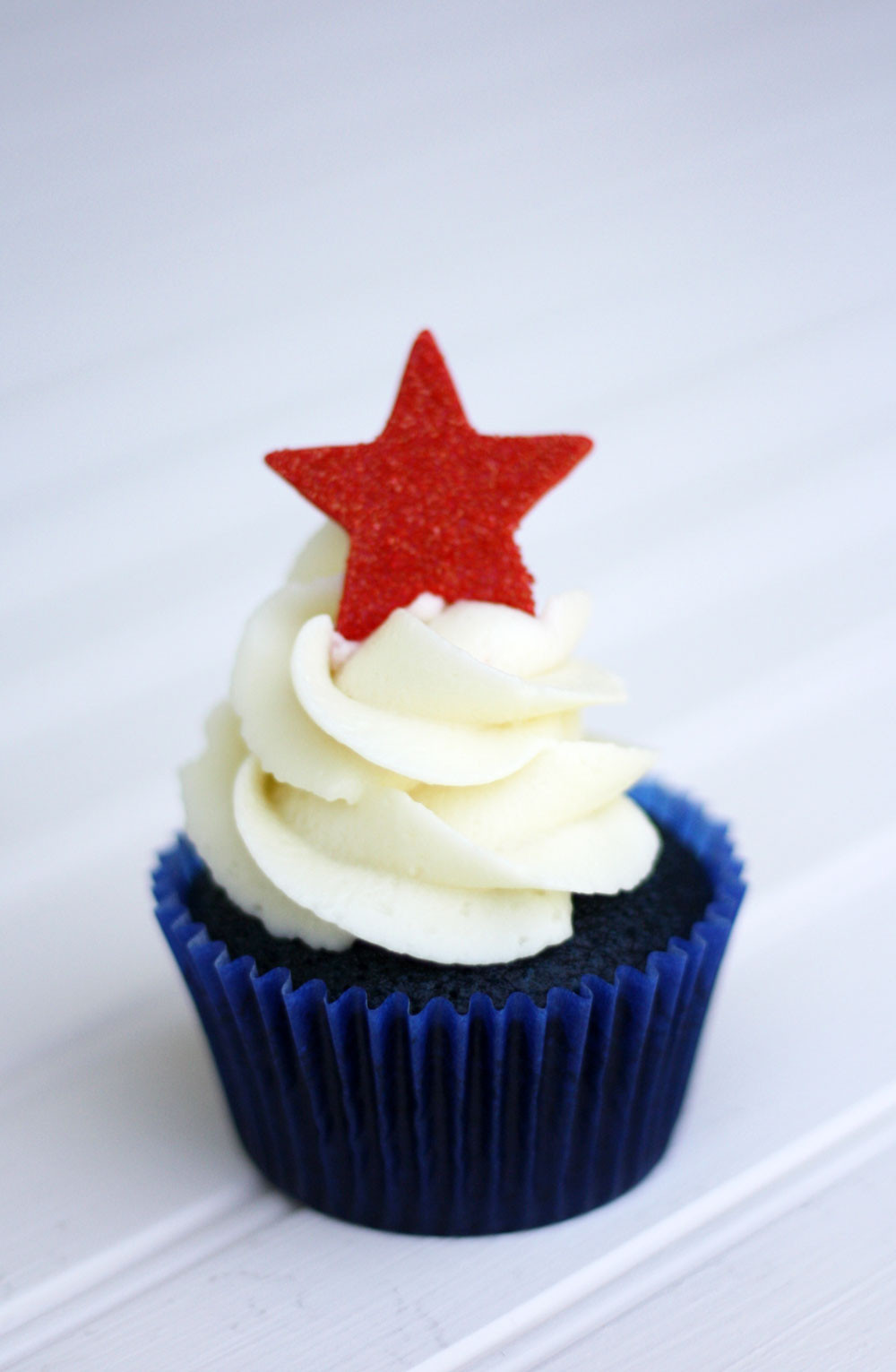 4Th Of July Cupcakes  Red White and Blue Velvet 4th of July Cupcakes Super